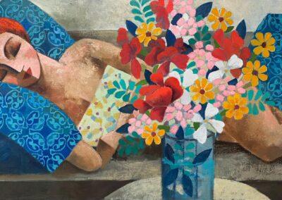 3_Siesta and Flowers_60x120