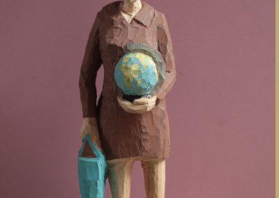 Edeka Nr. 1298 Globus und braunes Kostüm