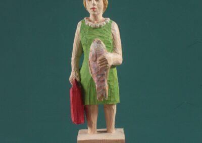 Edeka Nr. 1455 Frau mit Hochseefisch_VERKAUFT