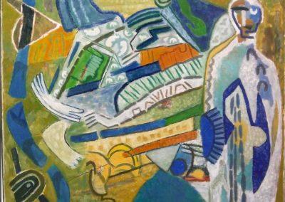 Hofmann_Veit_Der-blinde-Seher_160x200cm_Öl auf LW_1997_Städtische Galerie Dresden