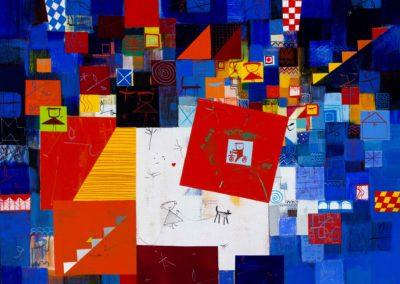 Iliya Zhelev_Dog and bird-2 60x80 cm