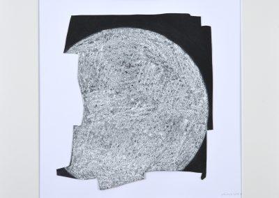 Ohne Titel 16_30x30cm_Lack, Kreide auf Papier_2017