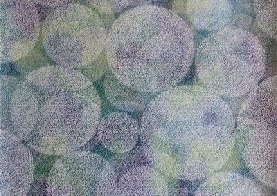 (Plexiglasbild) Blue Bubbles
