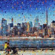 Promenade NY_70 x 70 cm