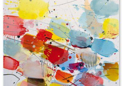 Scherzo, 2018, 70 x 70 cm, Acryl auf LW