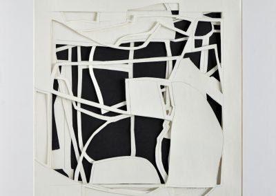 Schichtung 28_30x30cm_Papiercollage_2017