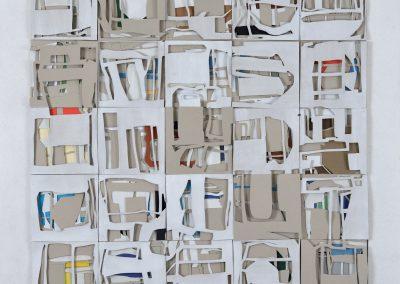 Schichtung_100x100cm_Collage-Holz_2017_18#A17C