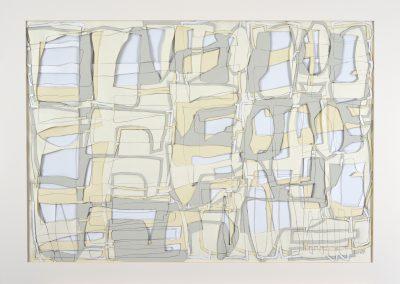 Schichtung_70x100cm_Collage Zeichnung_2000