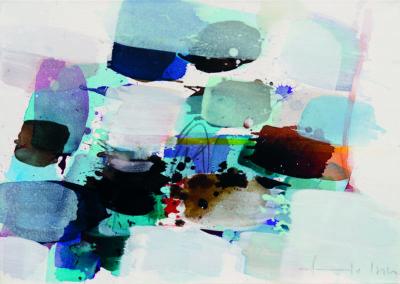 Traumfunkel II, 2016, 50 x 70 cm, Acryl auf Leinwand