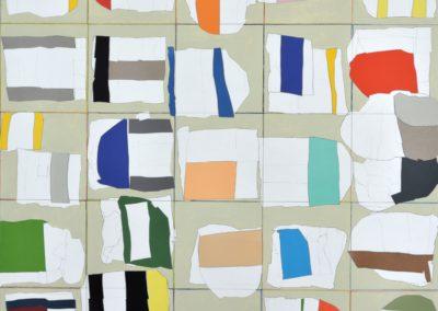 ohne Titel_Collage Acryl auf Papier_100x100cm_2017