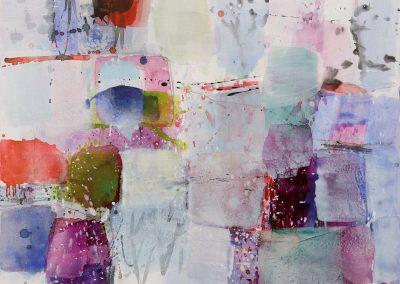 Verzauberte Landschaft 2017_Acryl auf LW_100 x 100 cm