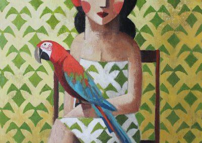 Guacamayo-Papagei 65 x 54 cm